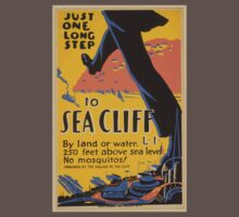 WPA United States Government Work Project Administration Poster 0635 Just One Long Step to Sea Cliff Baby Tee