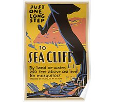 WPA United States Government Work Project Administration Poster 0635 Just One Long Step to Sea Cliff Poster