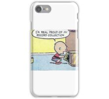 Charlie Brown Vinyl Record Collection iPhone Case/Skin