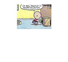 Charlie Brown Vinyl Record Collection Photographic Print