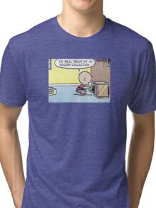 Charlie Brown Vinyl Record Collection Tri-blend T-Shirt