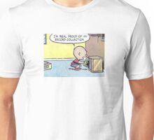 Charlie Brown Vinyl Record Collection Unisex T-Shirt