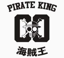 """One Piece Monkey D. Luffy """"Pirate King"""" Shirt Black Version by angeli718"""