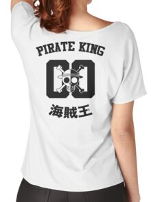 "One Piece Monkey D. Luffy ""Pirate King"" Shirt Black Version Women's Relaxed Fit T-Shirt"
