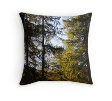 chatting in autumn sunshine Throw Pillow
