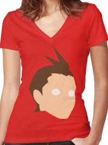 Apollo Justice Women's Fitted V-Neck T-Shirt