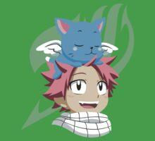 Natsu and Happy One Piece - Short Sleeve