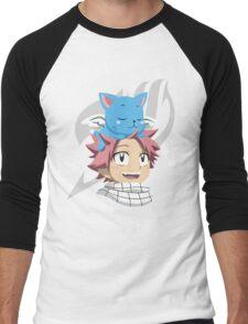 Natsu and Happy Men's Baseball ¾ T-Shirt