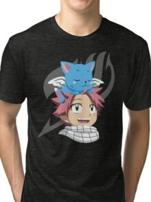 Natsu and Happy Tri-blend T-Shirt