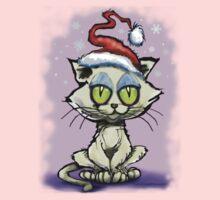 Christmas Kitten Kids Tee
