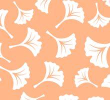 Peach Ginkgo Leaves Sticker