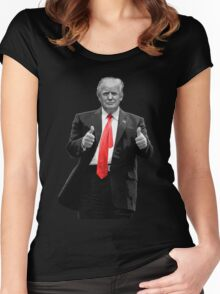 Donald Trump For President 2016 Thumbs Up Women's Fitted Scoop T-Shirt