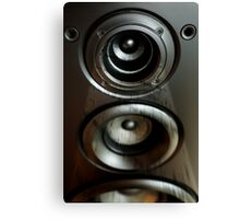 Speaker with Music Canvas Print