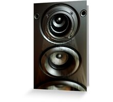 Speaker with Music Greeting Card