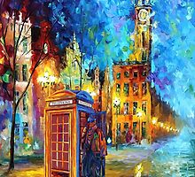 Sherlock Phone booth and Big ben art painting by Arief Rahman Hakeem