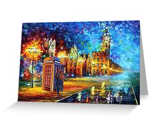 Sherlock Phone booth and Big ben art painting Greeting Card
