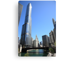 Chicago River and Skyline Canvas Print