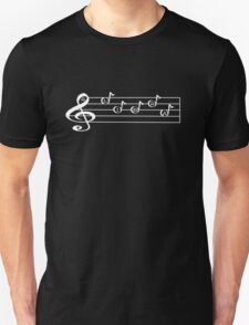 LIBRA - Words in Music - V-Note Creations (white text) Unisex T-Shirt