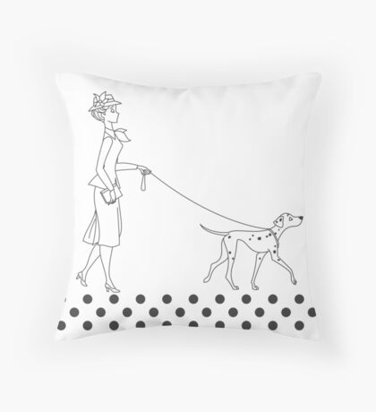Ladies on Parade Throw Pillow