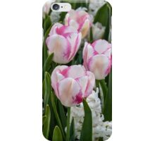 Beautiful pink and white tulips iPhone Case/Skin