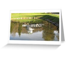 Monastery in water mirror Greeting Card