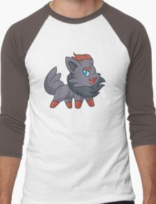 Charcoal Fox Men's Baseball ¾ T-Shirt