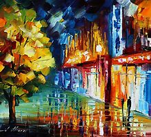 SHINNY DROPS - Original Art Oil Painting By Leonid Afremov by Leonid  Afremov
