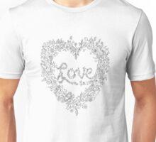 LOVE! (it's black on white) Unisex T-Shirt
