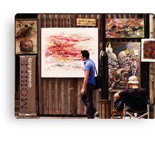 Hollywood Road Gallery, Hong Kong Canvas Print