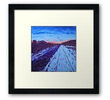 Winter Sunrise on the Rails Framed Print