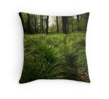 Deers' path Throw Pillow
