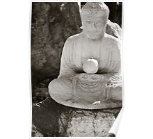 Buddha Holding Pear Poster