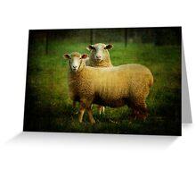 sheepish love Greeting Card