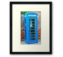 Blue telephone box Framed Print