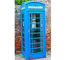 Blue telephone box Photographic Print