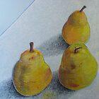 """pears on blue"" by Richard Robinson"