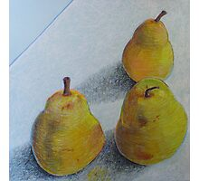 """pears on blue"" Photographic Print"
