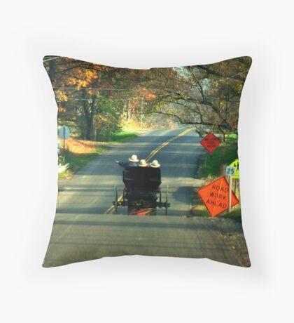 Road Work? Throw Pillow