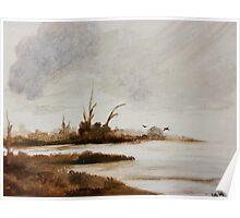 Loughrea Lake Ireland Poster