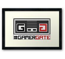 #GamerGate NES Controller Logo Framed Print