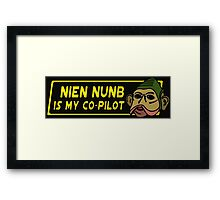 Star Wars - Nien Nunb Is My Co-Pilot Framed Print