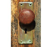 A Knock On The Door Photographic Print