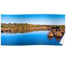 Afternoon wetlands panorama, Hastings Poster