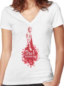 Dark Passenger Women's Fitted V-Neck T-Shirt