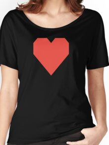 Red Orange  Women's Relaxed Fit T-Shirt