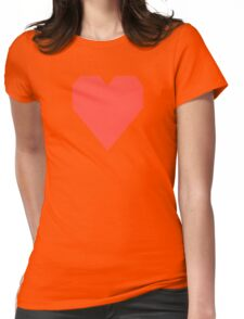 Red Orange  Womens Fitted T-Shirt