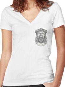 See No Evil, Hear No Evil, Speak No Evil. Women's Fitted V-Neck T-Shirt