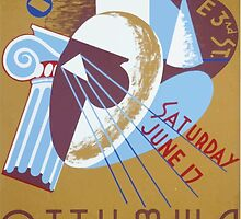 WPA United States Government Work Project Administration Poster 0157 Ottumwa Art Center Opening by wetdryvac