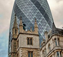 The Gherkin: City of London, UK. by DonDavisUK