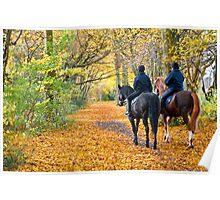 Autumn Wood on Horseback Poster